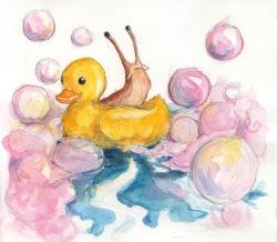 Ducky Slug - Watercolor
