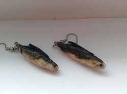 Miniature Mullet Earrings - Papier Mâché