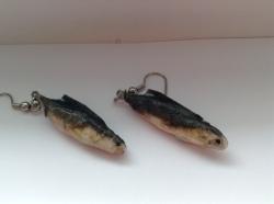 Miniature Mullet Earrings - Papier Mâché