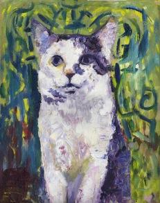 Cat VI, Oil Painting, 18x24, 2018