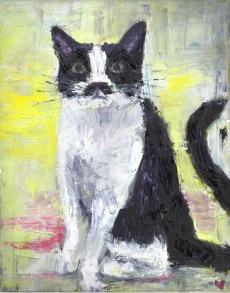 Mrs. Kitten, Oil Painting, 18x24, 2018