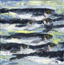 Little Sardines II, Oil Painting, 2017