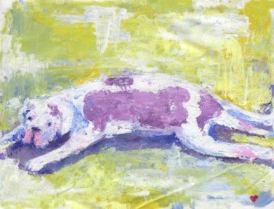 Garbaccia on the floor, acrylic, 11x14, 2017